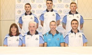David Herity (front row, right) has pictured with the 2016 Dublin senior camogie management team. Photo: David Herity/Twitter