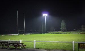 Carlow Rugby Club under the lights at Oak Park. Photo: Stephen Byrne/KCLR