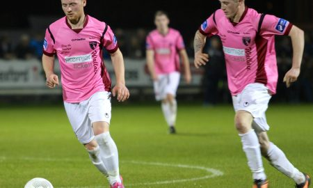 Conor English (left) pictured for Wexford Youths in their 4-1 win over Shelbourne on 9 October 2015. Photo: Paul Doyle/P Doyle Photography