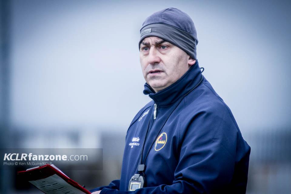 Carlow senior football manager Turlough O'Brien. Photo: Ken McGuire/KCLR