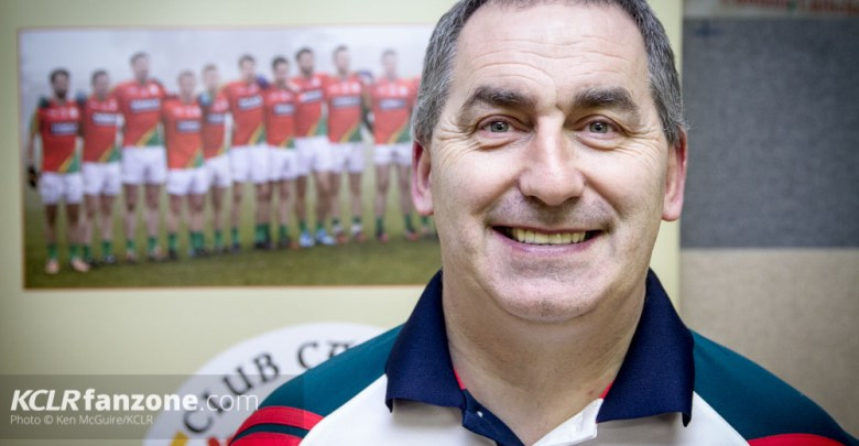 Carlow football boss Turlough O'Brien pictured at the launch of Carlow's 2016 GAA campaign at Netwatch Cullen Park on 28 January 2016. Photo: Ken McGuire/KCLR