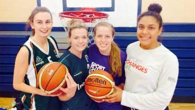 L-R: Maxol WIT Wildcats Helena Rohan, Sinead Deegan, Katie Fox and Jazmen Boone. Photo: Sportswomen.ie