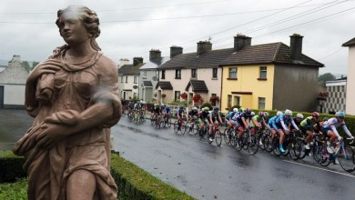 The peleton on the road to Bunclody during stage 3 of the 2016 Ras na Mban Pic Lorraine O'Sullivan
