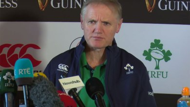 Joe Schmidt pictured announcing Ireland's XV to face New Zealand in Dublin