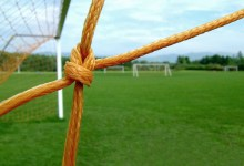 Soccer net. Stock photo