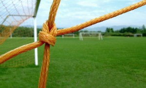 Soccer net. Stock photo