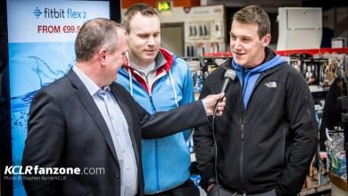 Brendan Hennessy talks to Seamus Murphy. Photo: Stephen Byrne/KCLR