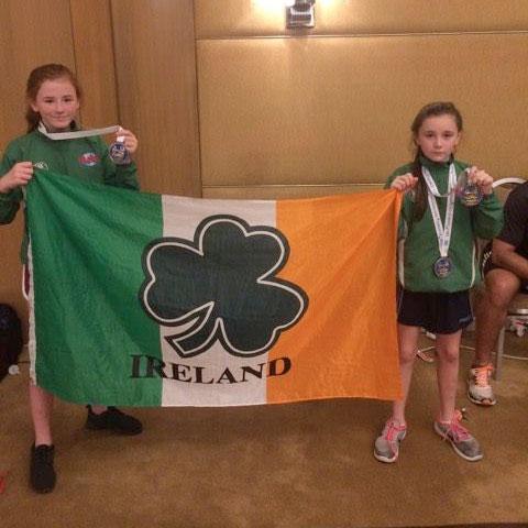 Sadhbh Moran & Holly Moran representing Team Ireland in Athens. Photo: Sonya McCormack Moran