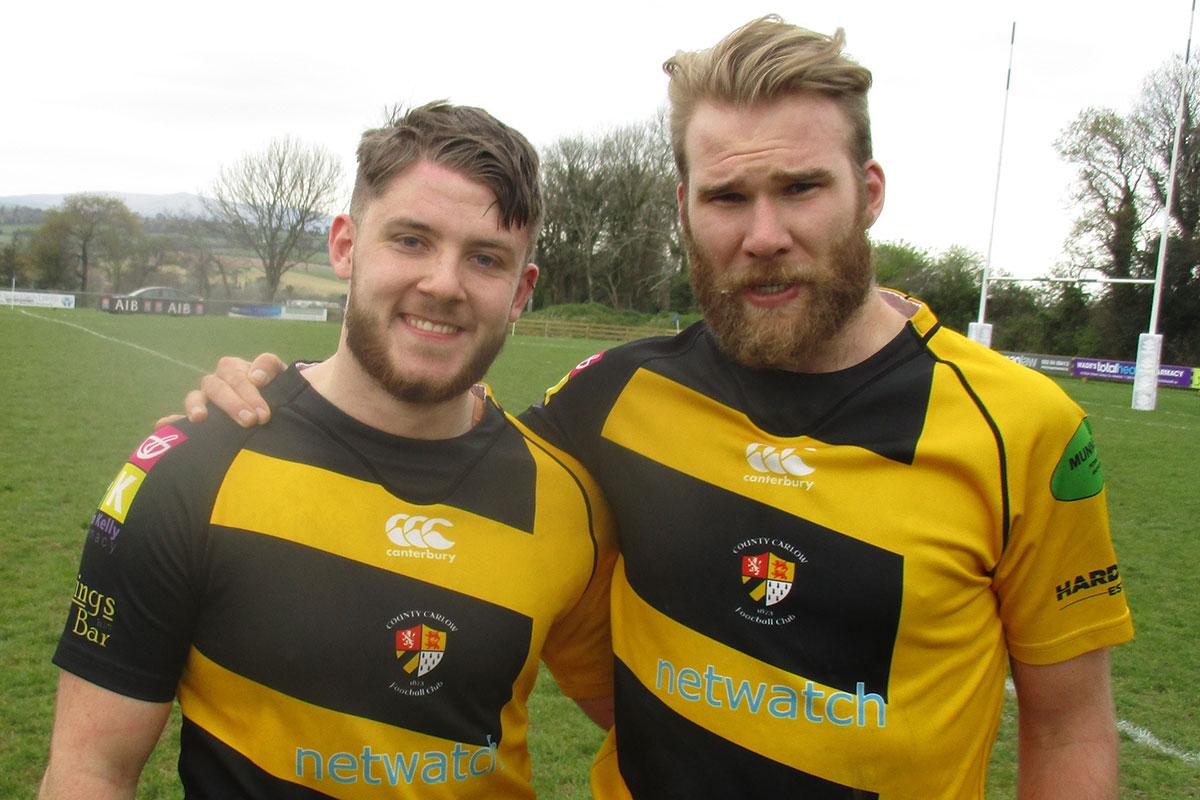 Carlow 3XV's Dominic Rice and Aidan Wiebenga. Photo: John Shirley