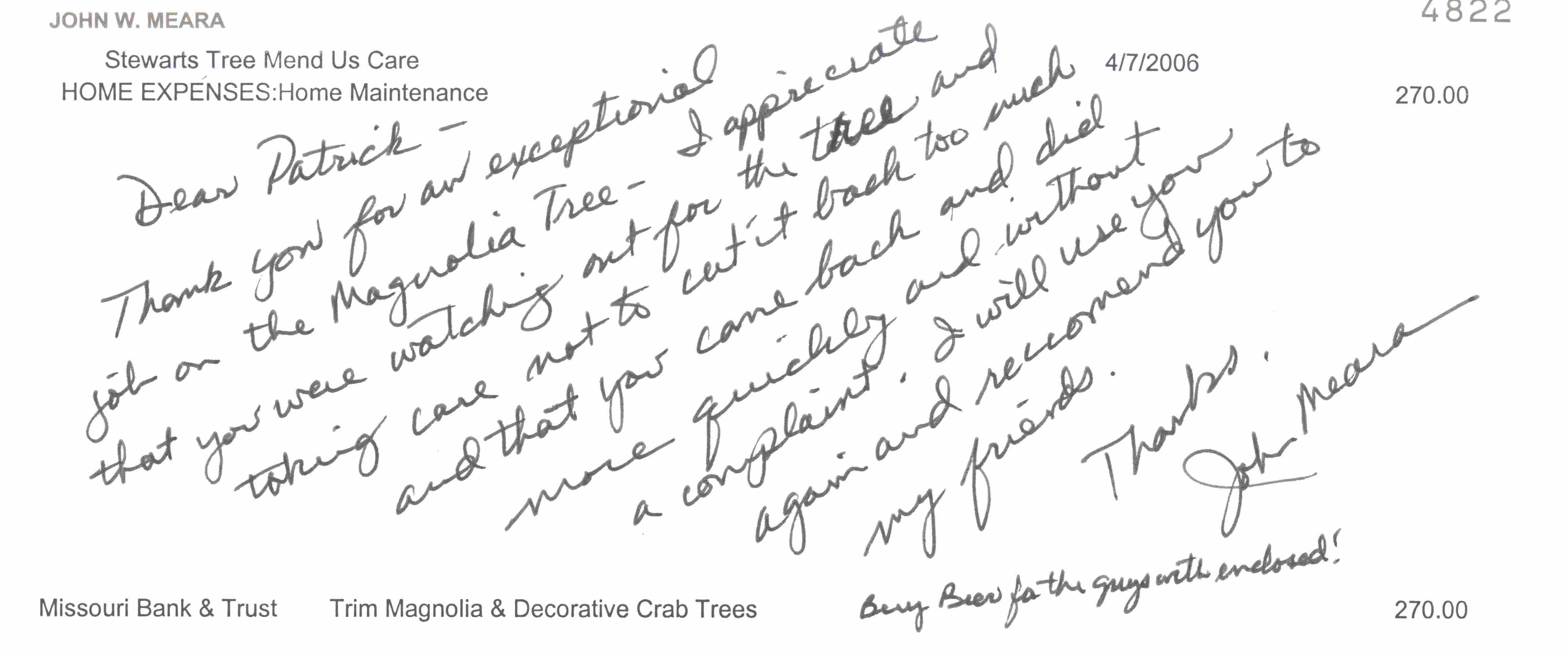 Testimonials Kansas City Tree Service