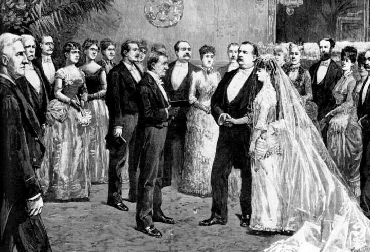 Grover Cleveland marries Francis Folsom at the White House