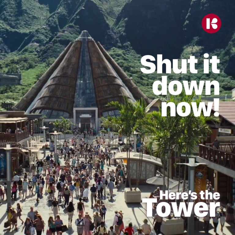 Here's the Tower Jurassic Park protest