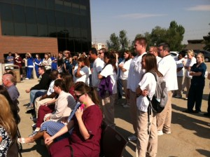 Students listen to Rep. Jim Matheson