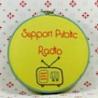support public radio embroidered