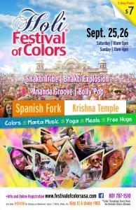 Holi Festival of Colors Spanish Fork @ Sri Sri Radha Krishna Temple Spanish Fork |  |  |