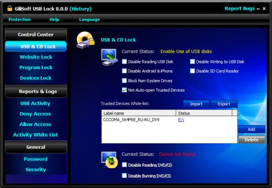 GiliSoft USB Lock Crack Serial Key