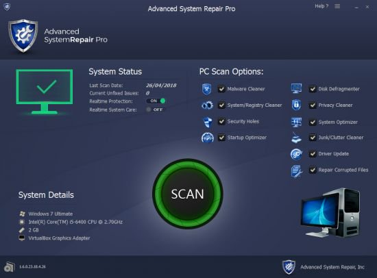 Advanced System Repair Pro Crack patch