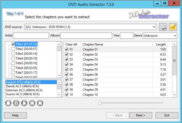 DVD Audio Extractor serial key'