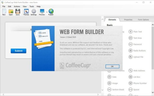 CoffeeCup Web Form BuilderCrack Serial key