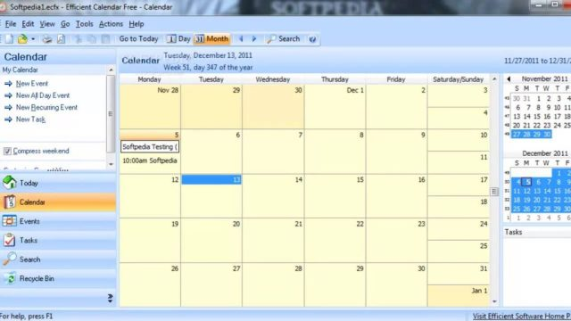 Efficient Calendar Carck Key