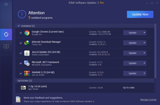IObit Software Updater Pro Crack Key