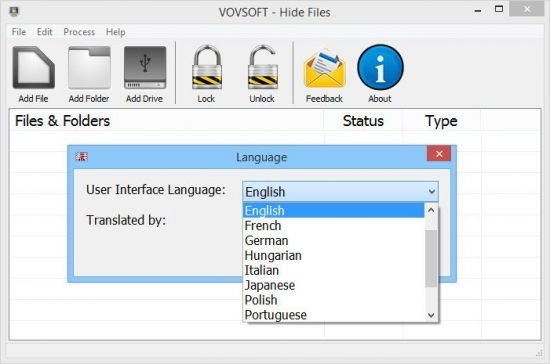 VovSoft Hide Files Crack Serial Key