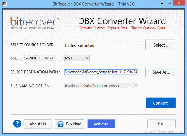 BitRecover MBOX to PDF Wizard crack Patch