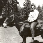 Bruce Marchbanks and his mule