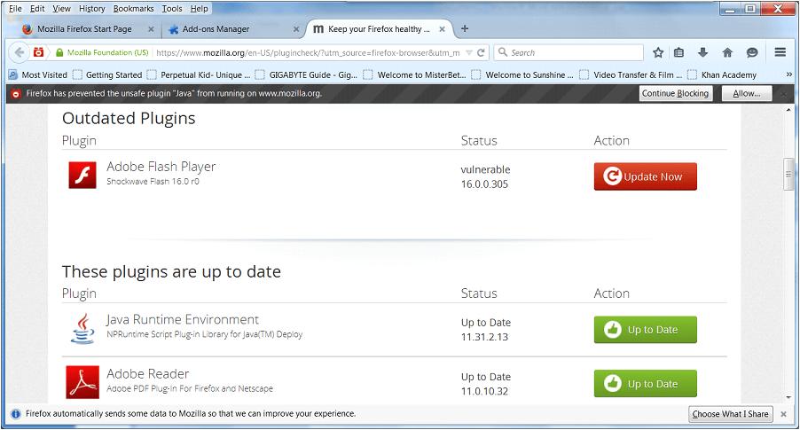 Updating Browser Plugins - SenCom