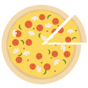pizza, pizza icon, pizza slice
