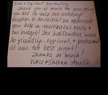 Client testimonial by Vince and Sheena