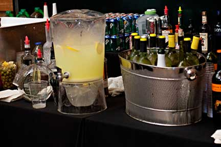 Mixed drink set up at event