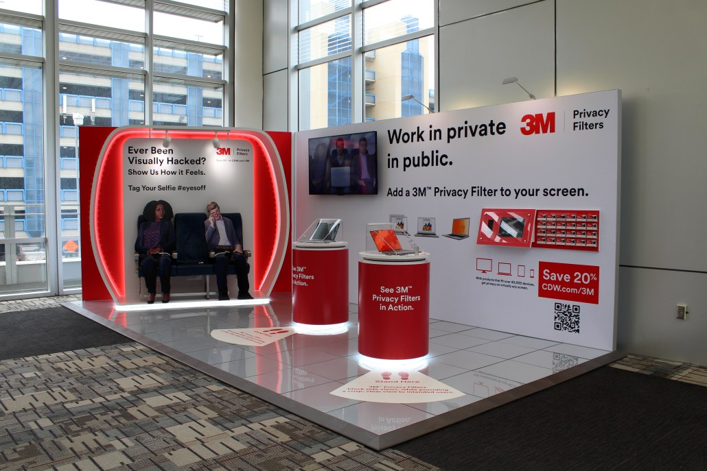 a 3M experiential display at the airport