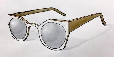 Tennyson Sunglasses - Kelly Carpenter Sketch