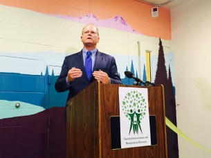 """King County Prosecuting Attorney Dan Satterberg: """"Look around. This is what criminal justice reform looks like."""""""
