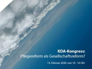 Wolkenhintergrund, KDA-Kongress
