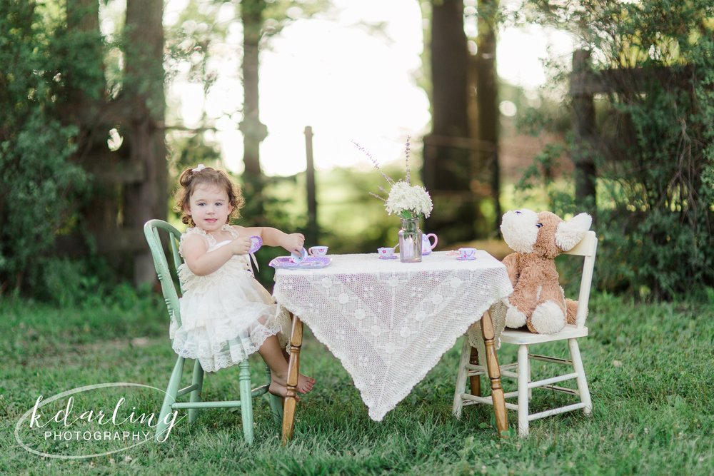 Tea for Two 2nd birthday photo session