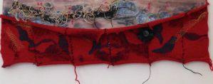 knit, bird, mixed media, print
