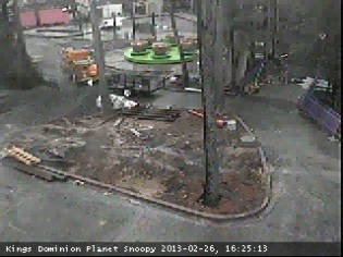 Woodstock Whirlybirds from the Kings Dominion Webcam