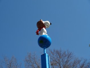 Then a close-up of Snoopy Standing big and tall!
