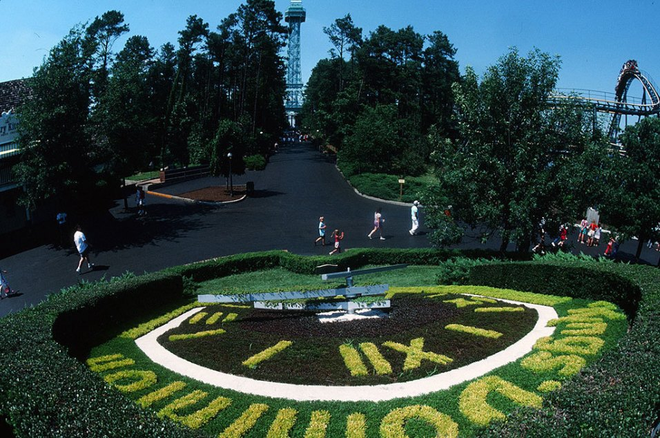 The old floral clock that is located in Candy Apple Grove
