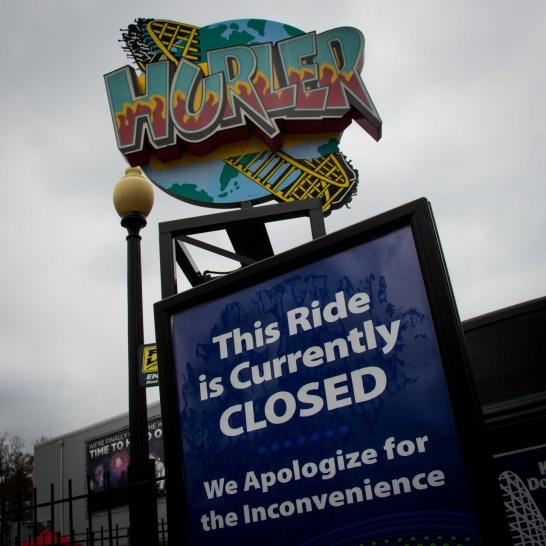 Hurler Closed Sign