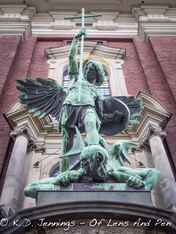 Hamburg In Colour Series - St. Michael's Church - Victory Over The Devil