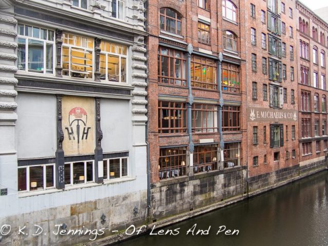 Hamburg In Colour Series - Old Brick Buildings On River