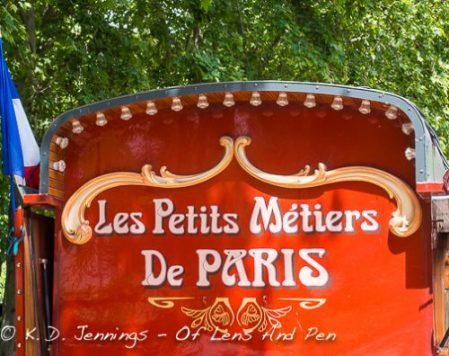Paris Colourful Caravan Near The Eiffel Tower