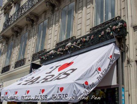I Love Paris Shop On The Champs-Elysées