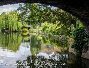 View from under a bridge in Islington London