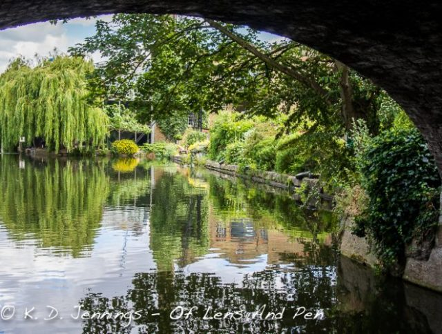 View from under a bridge in Islington London