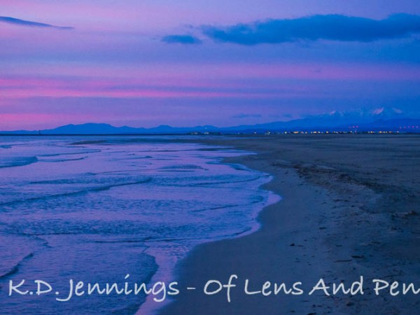 Gruissan Beach and Sea at Sunrise in Winter Aude South of France