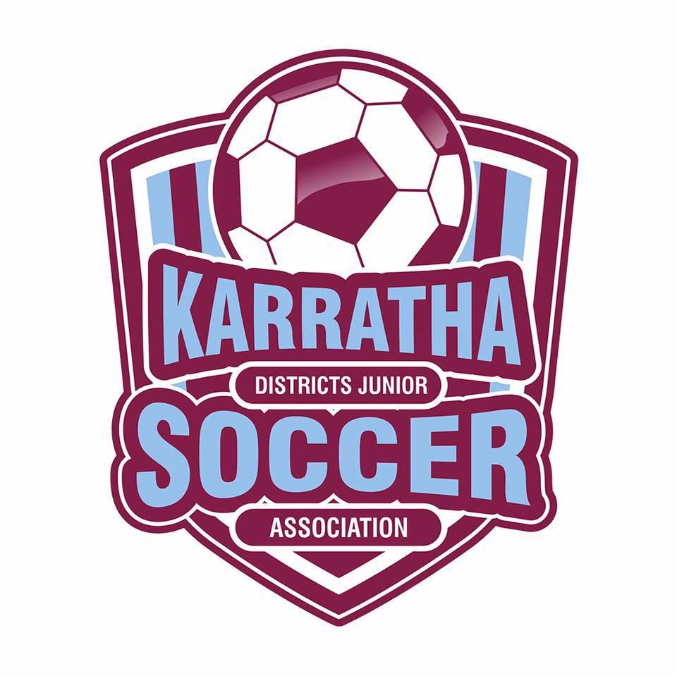 Karratha District junior soccer association logo
